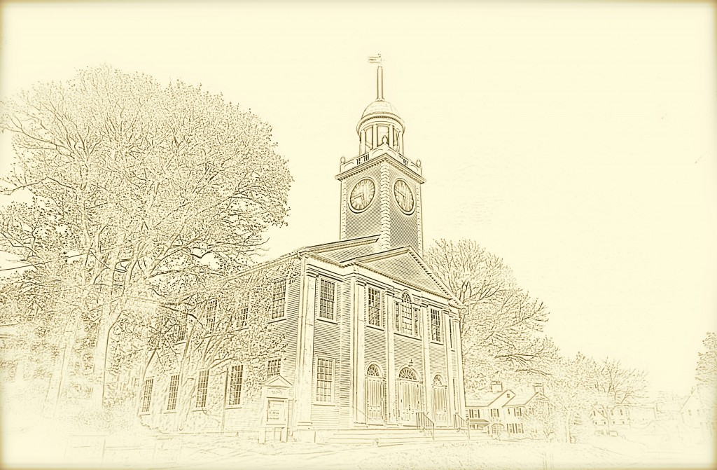 Church Front Drawing